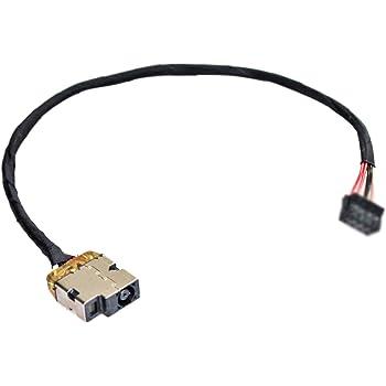 Laptop AC DC Power Jack Plug in Socket Connector with Cable Harness for HP Pavilion 15-af159nr 15-af161au 15-af161ca 15-af163au 15-af164au 15-af166ca
