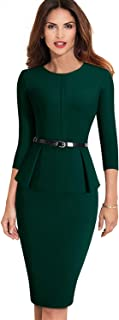 Womens One-Piece Office Business Work Dress Bodycon Pencil Casual Clothes