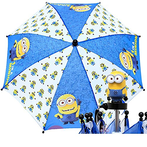 2015 New Minions White & Blue Kids Umbrellas-8710 by Accessory Innovations
