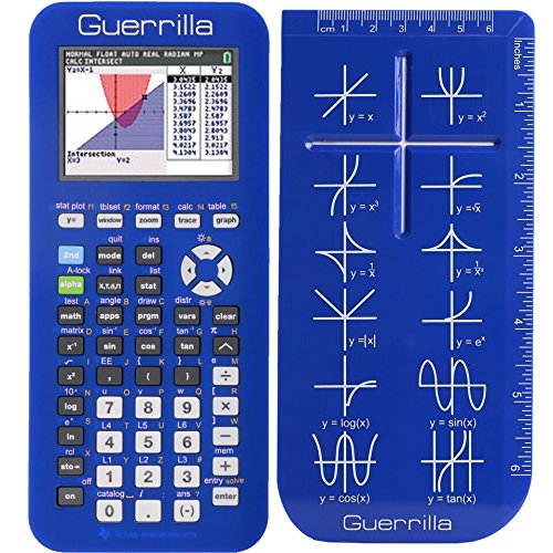 Guerrilla Silicone Case for Texas Instruments TI-84 Plus CE Color Edition Graphing Calculator With Screen protector and Graphing Ruler, Blue Photo #5