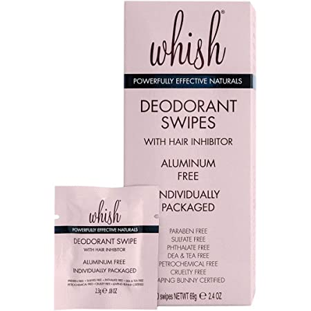 Whish Deodorant Swipe, 30 Count