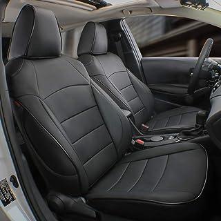 EKR Custom Fit Full Set Car Seat Covers for Select Toyota RAV4 Hybrid (Non XSE) 2019 2020- Leatherette (Black)