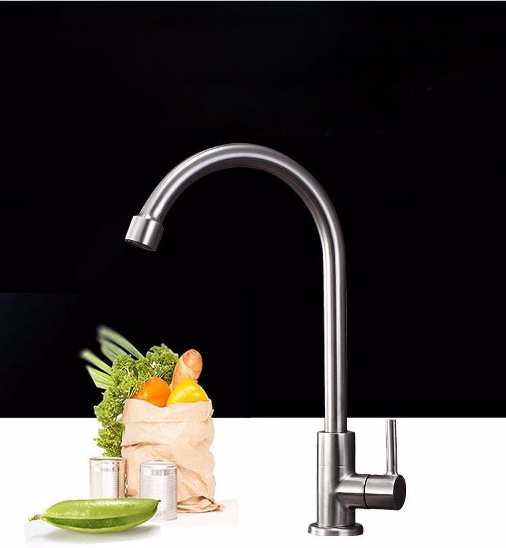 Küche mit herausziehbarer Dual-Spülbrause,Kaltes Heies Wassert Robinet froid simple en acier inoxydable, robinet de cuisine, robinet évier évier évier, robinet robinet brossé sans plomb
