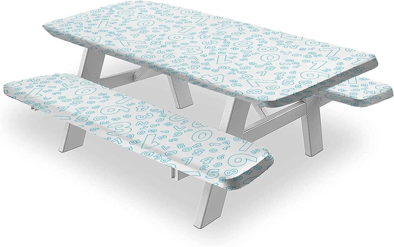 Math Tablecloths 3PCS Picnic Table quality assurance Mathematics Bench Cover Cheap bargain and B