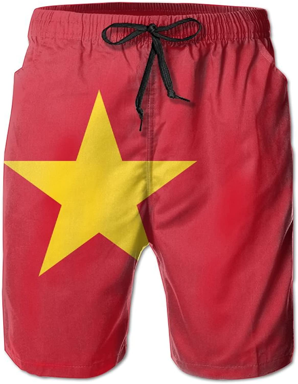 ec75439036 Vietnam FLG Men's Boys Print Summer Summer Summer Casual Beach Shorts  Surfing Pants Quick Dry Trunks Swimwear Elastic Waist Pockets ba23b8