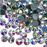 Jollin Vidrio Diamantes de Cristal de Espalda Plano Gemas de Cristal, Hotfix Crystal AB, SS20 1440pcs