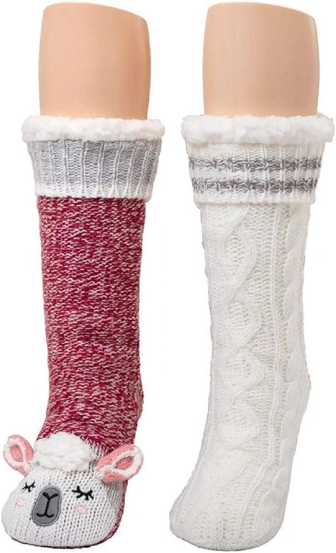CUDDL DUDS WOMEN'S SHERPA LINED CRITTER OF 2 ~ SLIPPER Regular discount SET SOCKS 35% OFF