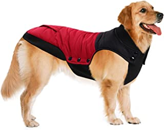 ASENKU Color Matching Dog Coat Waterproof Dog Jacket Windproof Cozy Dog Vest Fleece Lined Winter Warm Dog Clothes Pet Apparel for Small Medium Large Size Dogs Breeds