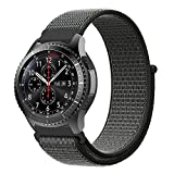 XIHAMA For スマートウォッチ Huawei Watch 2 Classic 編みナイロン 22MM バンド 替えベルト Amazfit pace Gear S3 Classic/Frontier Huawei Watch GTにも対応 ベルクロ設計 (オリーブグリーン)