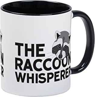 CafePress - Taza, diseño de mapache, Interior blanco y negro, Small