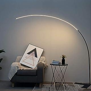 KOSILUM - Grand lampadaire LED Dimmable design courbé - Avellino - Lumière Blanc Chaud Eclairage Salon Chambre Cuisine Cou...