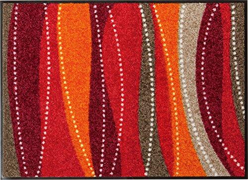 Erwin Müller Fußmatte - rutschfest - Schmutzfangmatte - für Innen und Außen - für Fußbodenheizung geeignet - rot - Größe 40x60 cm