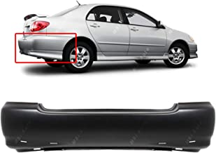 MBI AUTO - Primered, Rear Bumper Cover Replacement for 2003-2008 Toyota Corolla S 03-08, TO1100209
