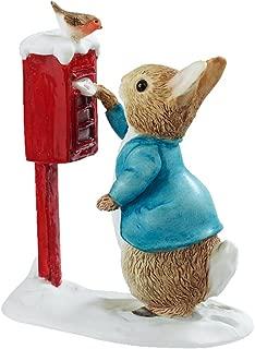 Beatrix Potter Miniature Figurine - Peter Rabbit Posting a Letter (A3486)