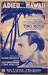 Adieu... Hawai - Tino Rossi - Éditions Feldman - partition