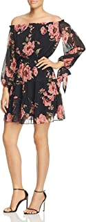 Womens Rosita Sheer Overlay Floral Print Party Dress