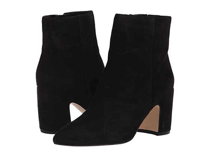 Vintage Boots- Buy Winter Retro Boots Sam Edelman Hilty Black Suede Leather Womens Shoes $159.95 AT vintagedancer.com