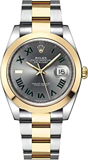 Rolex Datejust 41 Yellow Rolesor Wimbledon Dial Men's Watch (Ref. 126303)