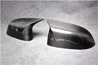 Semoic 2Pcs Couverture de Remplacement de Miroir de Fibre de Carbone Couverture pour X3 G01 X4 G02 X5 G05 18
