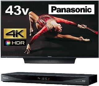 パナソニック 43V型 4K液晶テレビ ビエラ TH-43FX750 + 1TB 2チューナー ブルーレイレコーダーDIGA DMR-BRW1060