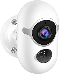 Security Camera Outdoor, Poyasilon 1080P Security Cameras Outdoor Battery Powered, Wireless WiFi Cameras for Home Security with Two-Way Audio, Night Vision, PIR Detection, IP65 Waterproof, SD/Cloud