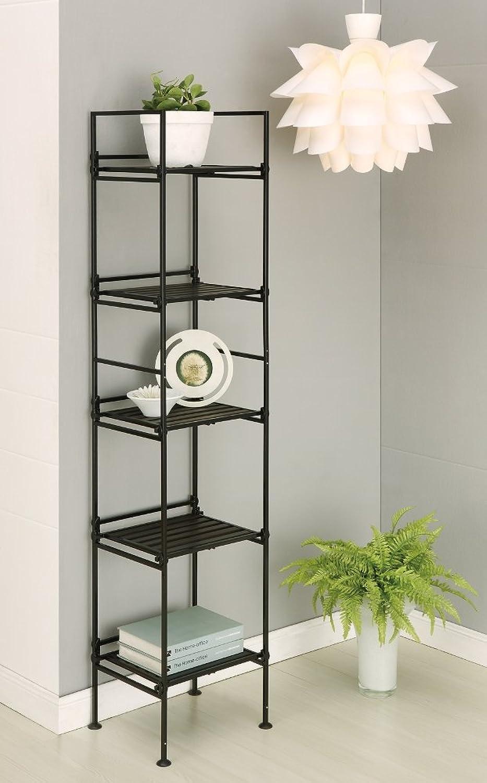 Organize It All Ebonize 5-Tier Square Shelf in Espresso