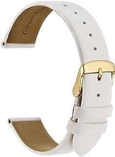 WOCCI Bracelets de Montre élégants, Bandes de Remplacement en Cuir Véritable, Boucle en Acier Inoxydable, 10mm 12mm 14mm 1...