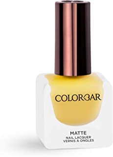 Colorbar Matte Nail Lacquer, Yellow Mellow, 12 ml