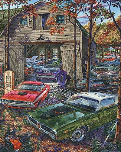 Cars on The Farm Jigsaw Puzzle 1000 Piece