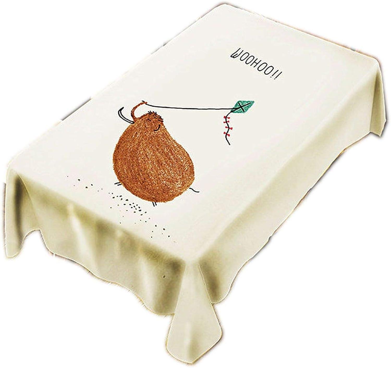 Nappe imperméable en Polyester avec Motif imprimé numérique de Dessin animé - Nappe résistante à l'huile pour fête de Mariage, Synthétique, C, 130 X 260CM