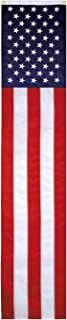 G128 American Flag Patriotic Bunting & Flag Pulldown, 50 Embroidered Stars with 5 Fully Sewn Stripes, Decorative Bunting, ...
