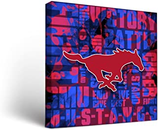 Victory Tailgate Southern Methodist University SMU Mustangs Canvas Wall Art Fight Song Version