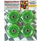 Wiggle Car Polyurethane Replacement Wheels - Green