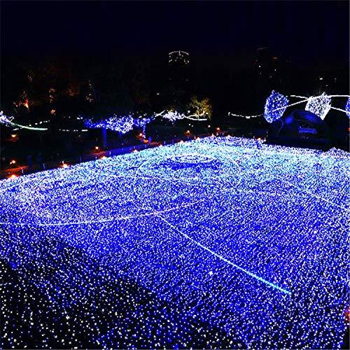 BABIFIS Luces de Cortina LED de tamaños múltiples, Luces de Navidad Azules Luces de Redes de Pesca Luces de decoración de Bodas