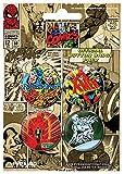 Unbekannt Marvel Comics (Set1)–Badge Pack