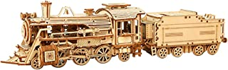 yeesport 350PCS 3D Train Model DIY Funny Wooden Puzzle 3D Train Puzzle Wooden Train Model Wood Train Puzzle