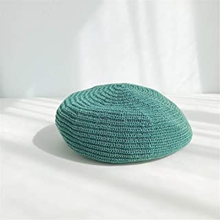 QinMei Zhou Milk Silk Female Summer Thin Breathable Beret hat Female Korean Version of The Spring and Autumn Wild Japanese Painter Cap Tide of England (Color : Turquoise, Size : One Size)
