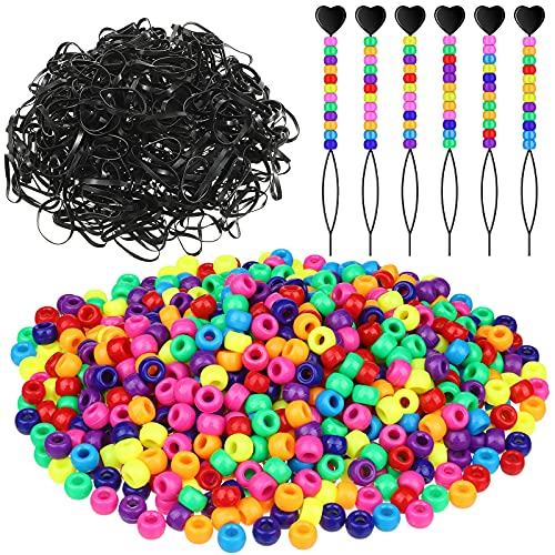 Hanaive 1306 Pieces Pony Beads Set,…