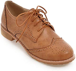 BalaMasa Womens APL12166 Pu Oxfords