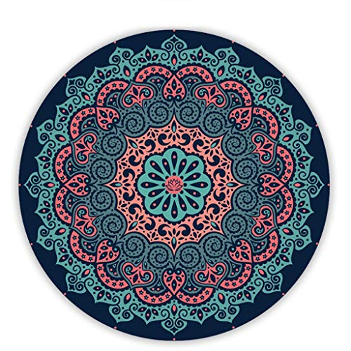 Yogamatte Rundes, rutschfestes Meditationskissen aus Naturkautschuk (Color : D)