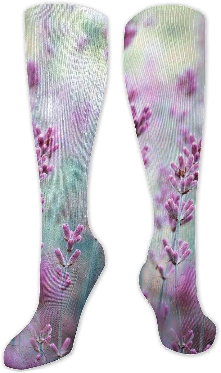 Lavender Knee High Socks Leg Warmer Dresses Long Boot Stockings For Womens Cosplay Daily Wear