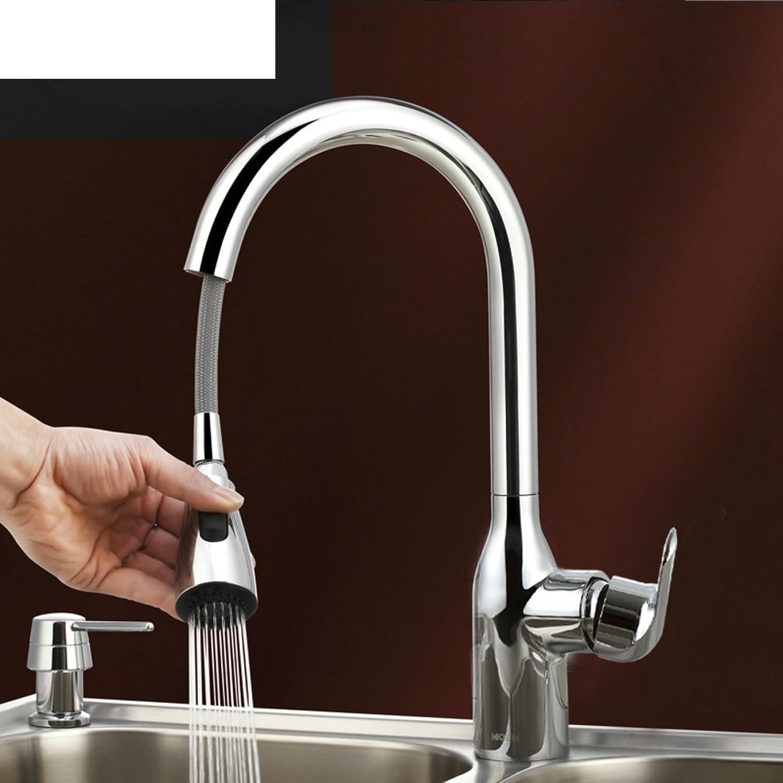 HCP Ausziehbare voll Kupfer warmen und kalten Wasserhhne Küchenarmatur Dreh-A
