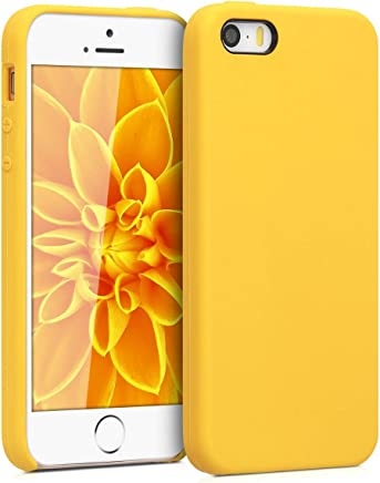 kwmobile [TPU Silicone] Case for Apple iPhone SE / 5 / 5S - Soft Flexible [Rubber] Protective Cover - Honey Yellow
