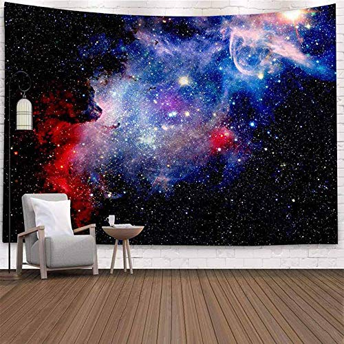 Psicodélico cielo estrellado universo tapiz colgante de pared tapiz de tela de pared hippie fantasía noche pared luna tapiz psicodélico A1 150x200cm