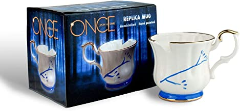 Once Upon A Time Collectibles | White Chipped Ceramic Molded Mug | 12 Ounces | Toynk Toys