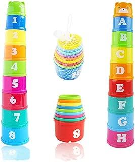 Enfants Bébé Empilage Tasses Bain Temps Jouets Premiers Jouets éducatifs