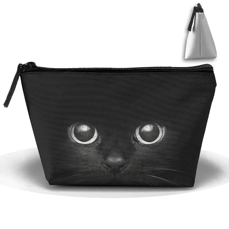 封建印象構造的台形 収納ポーチ 猫 ネコ キティ OL メイクアップバッグ 小物入れ 整理 小銭入れ 鉛筆ケース ペンバッグ 鉛筆ケース コイン財布 ポーチ化粧品 鞄 ビーチ 便利