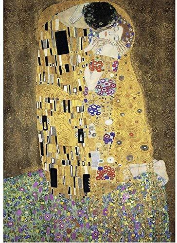 Pintura famoso rompecabezas El beso de Gustav Klimt Jigsaw Puzzle 1000 piezas de madera rompecabezas for adultos juguetes de la descompresión HD Impreso cartel Rompecabezas Niños Inicio Puzzle