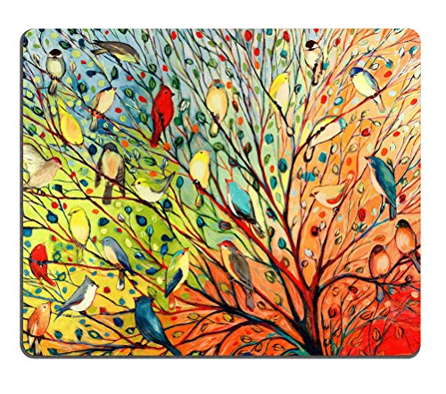 """New Illustration Painting 16 Birds Oblong Mouse Pads/ Standard Rectangle Gaming Mousepad in 9""""7"""" (526) -528157"""