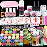 Acrylic Nail Kit with Nail Dryer, COOSA Professional Acrylic powder Shiny DIY Nail Art Decoration Tools Professional Manicure Set